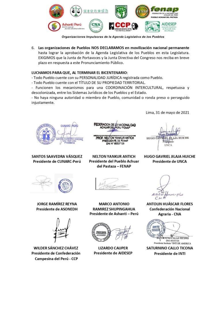 PRONUNCIAMIENTO DE LAS ORGANIZACIONES-Por la aprobación de la Agenda Legislativa de los Pueblos 31.05.2021_page-0002